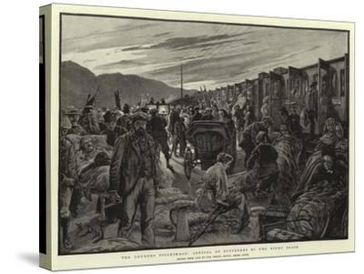 The Lourdes Pilgrimage, Arrival of Sufferers by the Night Train-Henri Lanos-Stretched Canvas Print