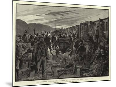 The Lourdes Pilgrimage, Arrival of Sufferers by the Night Train-Henri Lanos-Mounted Giclee Print