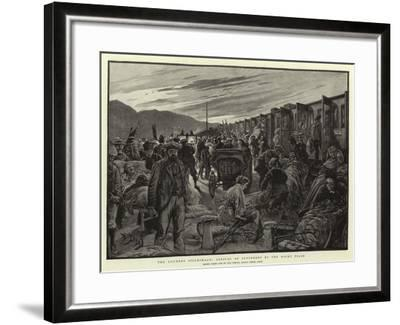 The Lourdes Pilgrimage, Arrival of Sufferers by the Night Train-Henri Lanos-Framed Giclee Print