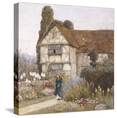 Old Manor House-Helen Allingham-Stretched Canvas Print