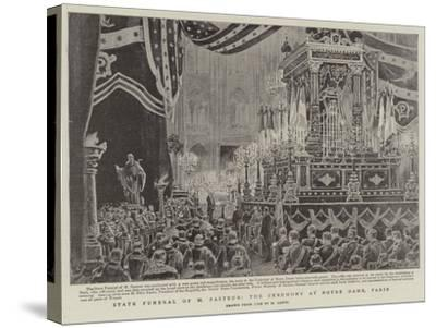 State Funeral of M Pasteur, the Ceremony at Notre Dame, Paris-Henri Lanos-Stretched Canvas Print