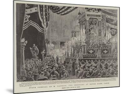 State Funeral of M Pasteur, the Ceremony at Notre Dame, Paris-Henri Lanos-Mounted Giclee Print