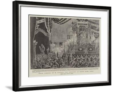 State Funeral of M Pasteur, the Ceremony at Notre Dame, Paris-Henri Lanos-Framed Giclee Print
