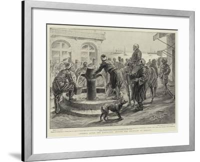 Armenia after the Massacres, around the Fountain at Mersina-Henri Lanos-Framed Giclee Print