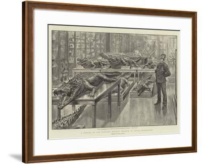 A Sketch in the Natural History Museum at South Kensington-Henri Lanos-Framed Giclee Print