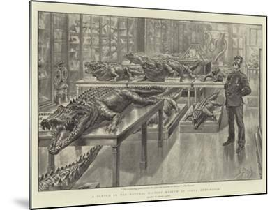 A Sketch in the Natural History Museum at South Kensington-Henri Lanos-Mounted Giclee Print
