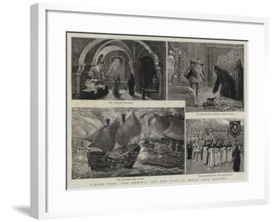 Scene from The Armada, the New Play at Drury Lane Theatre-Henri Lanos-Framed Giclee Print