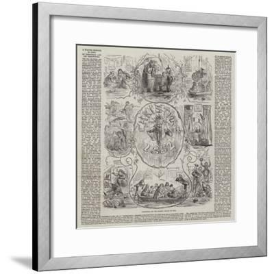 Christmas and the Floods-Hablot Knight Browne-Framed Giclee Print