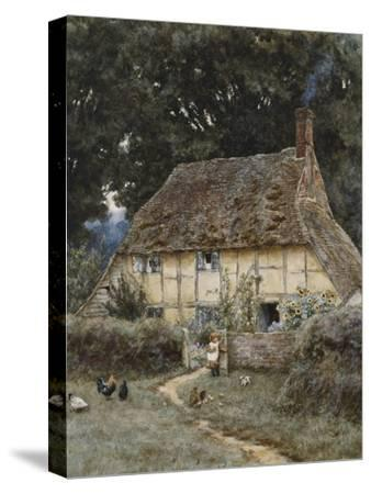 On the Brook Road, Near Witley-Helen Allingham-Stretched Canvas Print