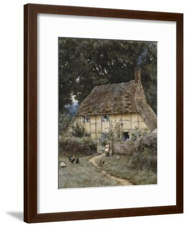 On the Brook Road, Near Witley-Helen Allingham-Framed Premium Giclee Print
