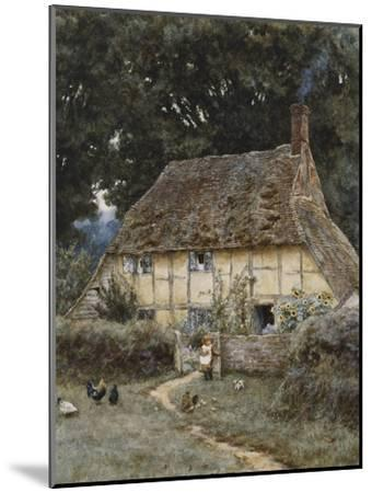 On the Brook Road, Near Witley-Helen Allingham-Mounted Premium Giclee Print