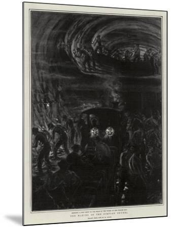 The Making of the Simplon Tunnel-Henri Lanos-Mounted Giclee Print