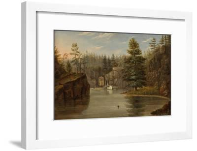 Gorge of the St. Croix, 1847-Henry Lewis-Framed Giclee Print