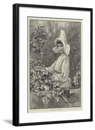 In a Hop Garden-Henry Charles Seppings Wright-Framed Giclee Print