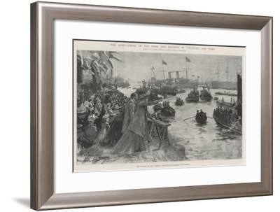 The Home-Coming of the Duke and Duchess of Cornwall and York-Henry Charles Seppings Wright-Framed Giclee Print