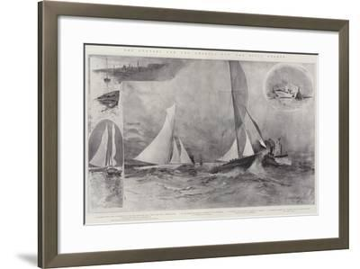 The Contest for the America Cup, the Rival Yachts-Henry Charles Seppings Wright-Framed Giclee Print