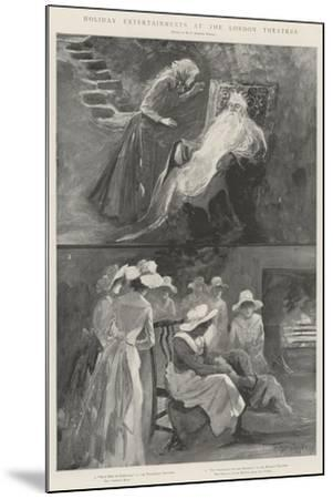 Holiday Entertainments at the London Theatres-Henry Charles Seppings Wright-Mounted Giclee Print