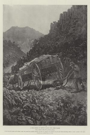A Boer Method of Getting Wagons Down Steep Places-Henry Charles Seppings Wright-Stretched Canvas Print