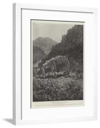 A Boer Method of Getting Wagons Down Steep Places-Henry Charles Seppings Wright-Framed Giclee Print