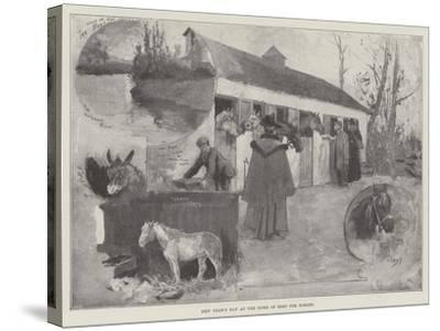 New Year's Day at the Home of Rest for Horses-Henry Charles Seppings Wright-Stretched Canvas Print