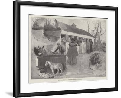 New Year's Day at the Home of Rest for Horses-Henry Charles Seppings Wright-Framed Giclee Print