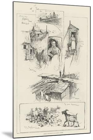 Sketches in Shanty Town, New York-Henry Charles Seppings Wright-Mounted Giclee Print