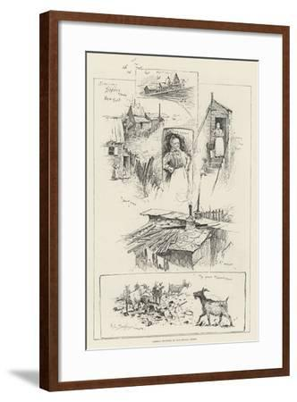 Sketches in Shanty Town, New York-Henry Charles Seppings Wright-Framed Giclee Print