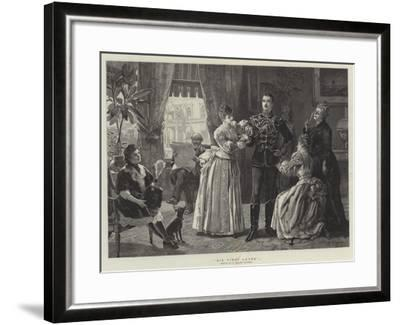 His First Levee-Henry Gillard Glindoni-Framed Giclee Print