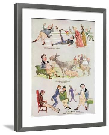 Cartoons of Mr. Pickwick from 'Holly Leaves'-Henry Harris-Framed Giclee Print