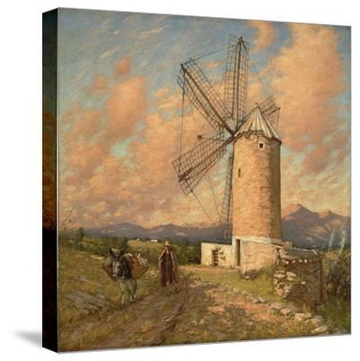 A Spanish Mill-Henry Herbert La Thangue-Stretched Canvas Print