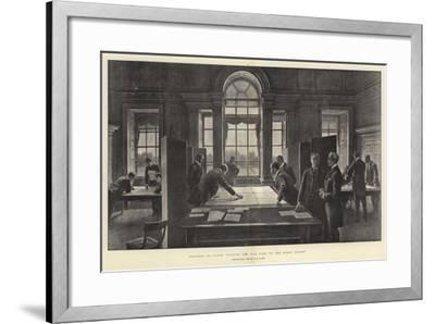 Strategy on Paper, Playing the War Game at the Horse Guards-Henry Marriott Paget-Framed Giclee Print