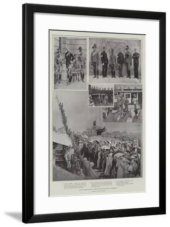 Hands across the Sea, New South Wales Lancers at Aldershot-Henry Charles Seppings Wright-Framed Giclee Print