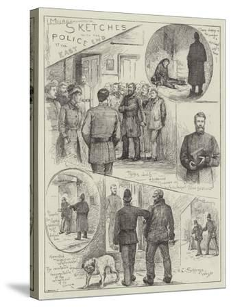 Sketches with the Police at the East End-Henry Charles Seppings Wright-Stretched Canvas Print