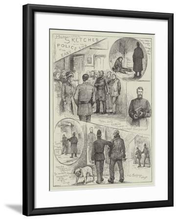 Sketches with the Police at the East End-Henry Charles Seppings Wright-Framed Giclee Print