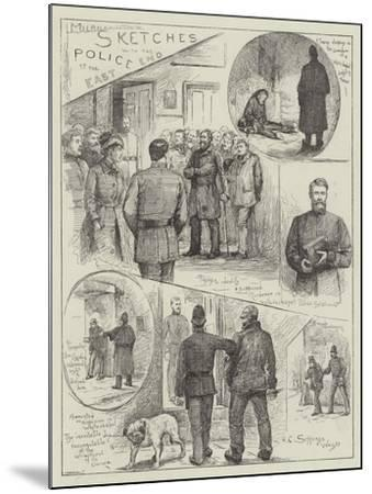 Sketches with the Police at the East End-Henry Charles Seppings Wright-Mounted Giclee Print