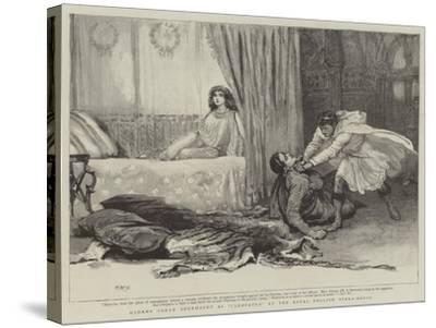 Madame Sarah Bernhardt at Cleopatra at the Royal English Opera-House-Henry Marriott Paget-Stretched Canvas Print