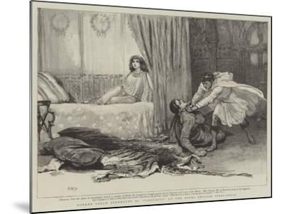 Madame Sarah Bernhardt at Cleopatra at the Royal English Opera-House-Henry Marriott Paget-Mounted Giclee Print