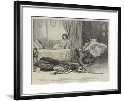 Madame Sarah Bernhardt at Cleopatra at the Royal English Opera-House-Henry Marriott Paget-Framed Giclee Print