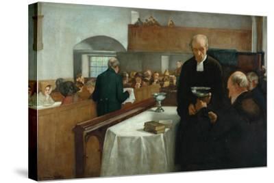 A Scottish Sacrament-Henry John Dobson-Stretched Canvas Print