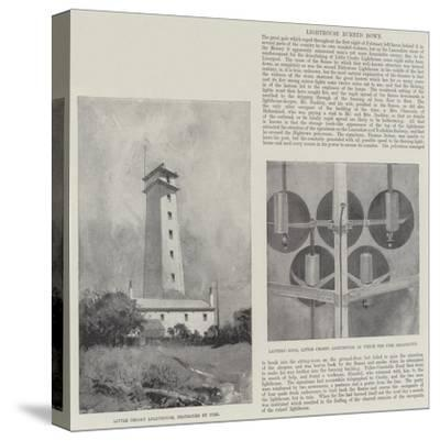 Lighthouse Burned Down-Henry Charles Seppings Wright-Stretched Canvas Print
