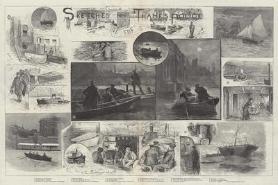Sketches of the Thames Police-Henry Charles Seppings Wright-Giclee Print