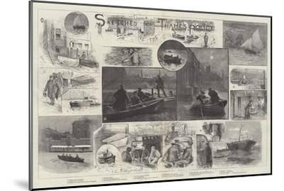 Sketches of the Thames Police-Henry Charles Seppings Wright-Mounted Giclee Print