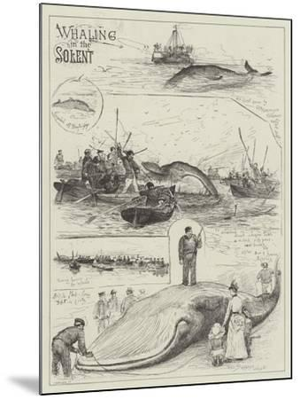 Whaling in the Solent-Henry Charles Seppings Wright-Mounted Giclee Print