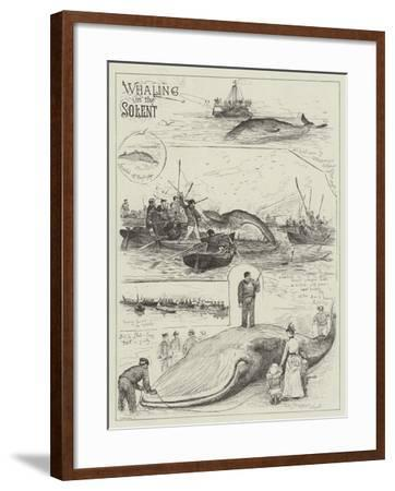 Whaling in the Solent-Henry Charles Seppings Wright-Framed Giclee Print
