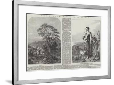 Opening of the British Institution-Henry Jutsum-Framed Giclee Print