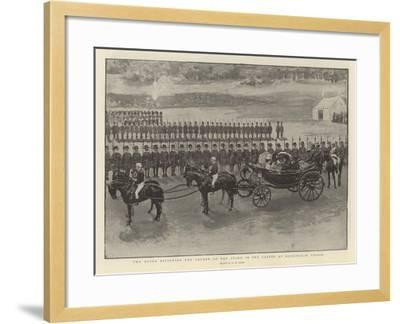 The Queen Reviewing the Yeomen of the Guard in the Garden at Buckingham Palace-Henry Marriott Paget-Framed Giclee Print