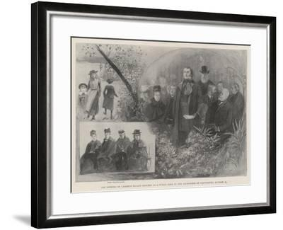 The Opening of Lambeth Palace Grounds as a Public Park by the Archbishop of Canterbury, 24 October-Henry Charles Seppings Wright-Framed Giclee Print