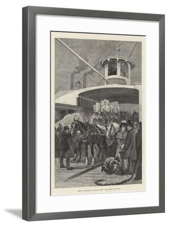 America Revisited by Our Special Artist, Fulton Ferry, New York-Henry Charles Seppings Wright-Framed Giclee Print