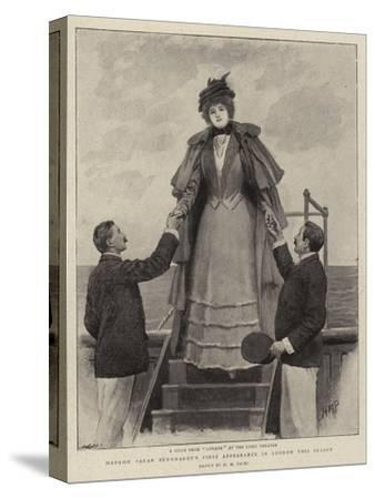 Madame Sarah Bernhardt's First Appearance in London This Season-Henry Marriott Paget-Stretched Canvas Print