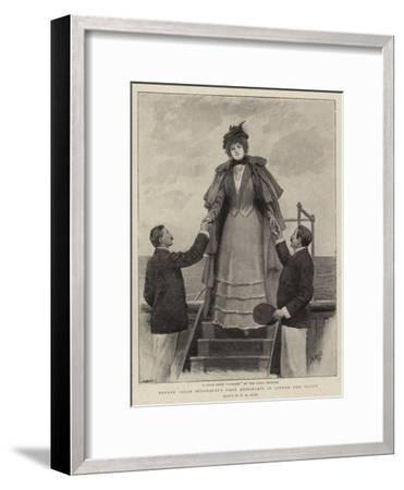 Madame Sarah Bernhardt's First Appearance in London This Season-Henry Marriott Paget-Framed Giclee Print